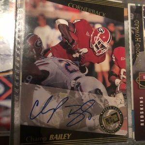 Champ Bailey autographed rookie card
